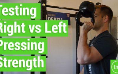 Testing Right Vs Left Pressing Strength