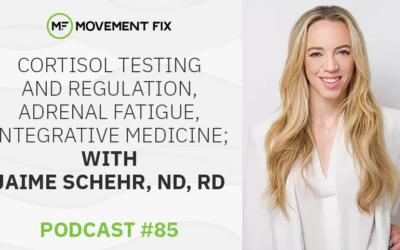 85 - Cortisol Testing and Regulation, Adrenal Fatigue, Integrative Medicine; w/ Jaime Schehr, ND, RD