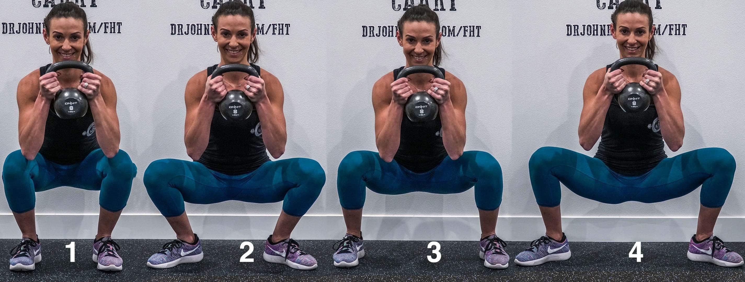 4 different squat stances