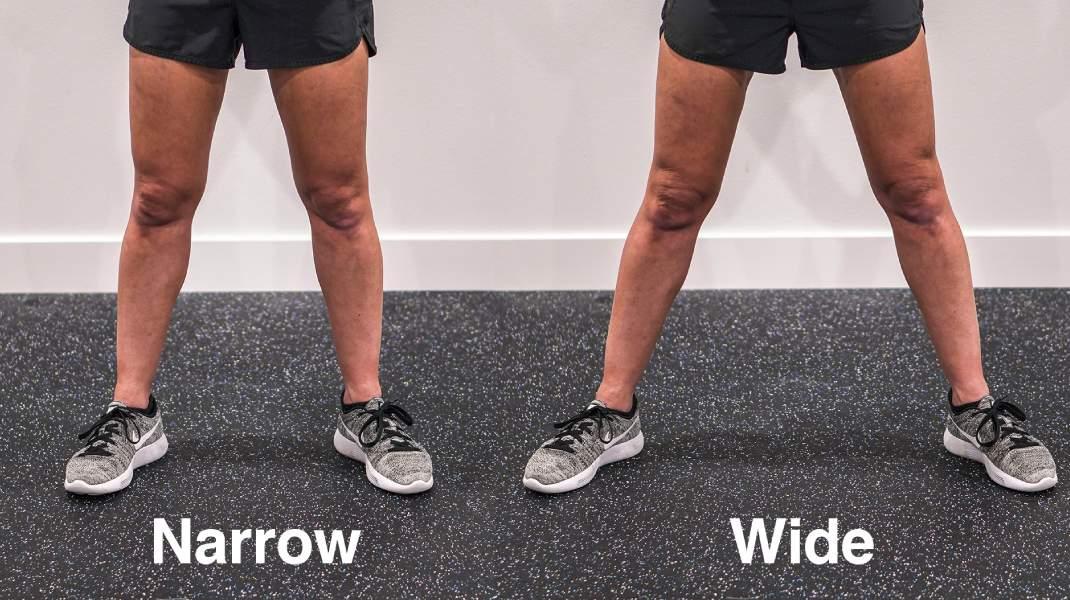 narrow vs wide squat stance
