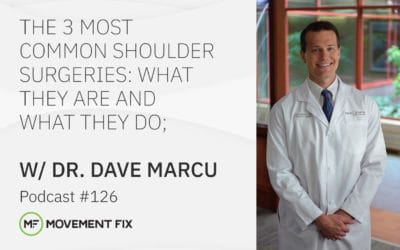126 - The 3 Most Common Shoulder Surgeries: What they are and what they do; w/ Dave Marcu, MD, CSCS
